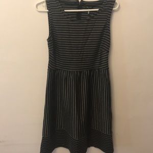 Black & Gray Striped Dress